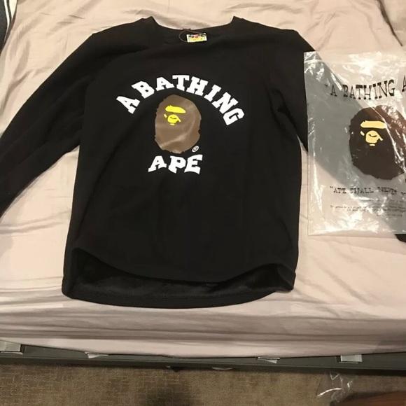 88d6f6f7 Bape Shirts | A Bathing Ape Long Sleeve Tshirt Rare Real | Poshmark
